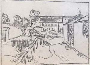 Erich HARTMANN - Dessin-Aquarelle - #19982: Häuseransicht.