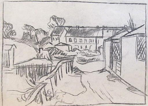 Erich HARTMANN - Dibujo Acuarela - #19982: Häuseransicht.
