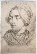 Jean-Baptiste GREUZE - Dessin-Aquarelle - Femme au bonnet