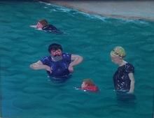 Félix VALLOTTON - Pintura - Quatre baigneurs à Étretat