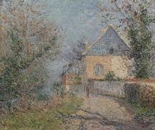 Gustave LOISEAU (1865-1935) - Maisons au bord de l'Eure à Louviers