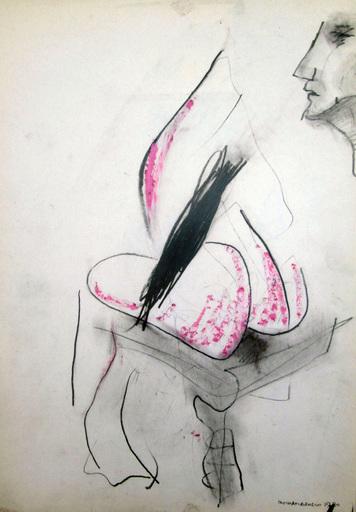 Paolo AMBROSIO - Dessin-Aquarelle - Figura