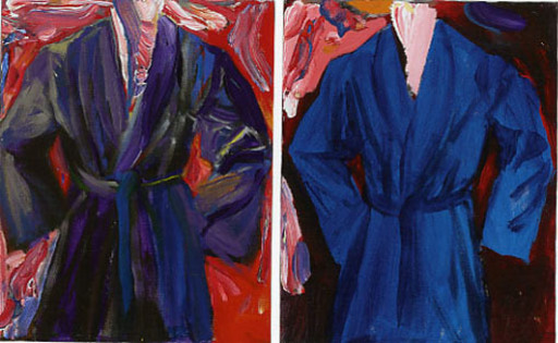 Jim DINE - Pittura - Double bathrobe