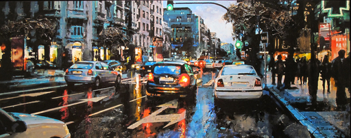 Jaume ARISA - Pintura - Calle Goya (Madrid)