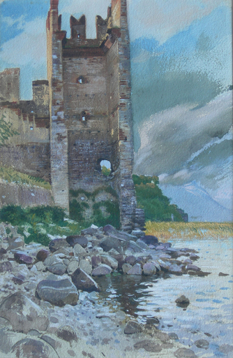 Adolf HIREMY-HIRSCHL - Pintura - Torri di Benaco