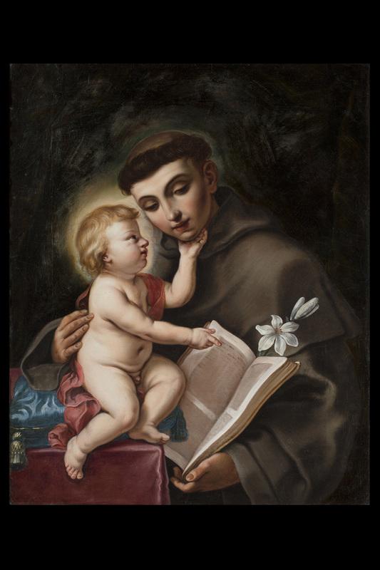 Giovanni Andrea & Elisabetta SIRANI - Painting - St. Anthony of Padua