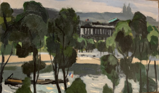 Bernard LAMOTTE - Pintura - Paris: place de la Concordre / Le Crillon
