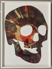 """Damien HIRST (1965) - """"Beautiful Fiery Hot Rod Skull Spin for Stephanie"""""""