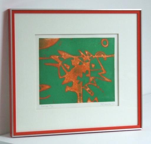 Kittie BRUNEAU - Estampe-Multiple - Licorne (Unicorn) - 1973