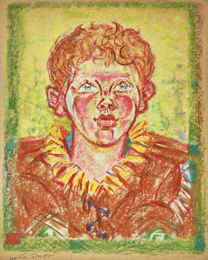 André MASSON - Zeichnung Aquarell - Portrait of Peter Matisse