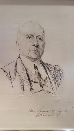 Max LIEBERMANN - Print-Multiple - Portrait of Generaldirector Victor Zuckerhandl
