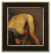 Michael LEONARD - Painting - Bather Stooping Low