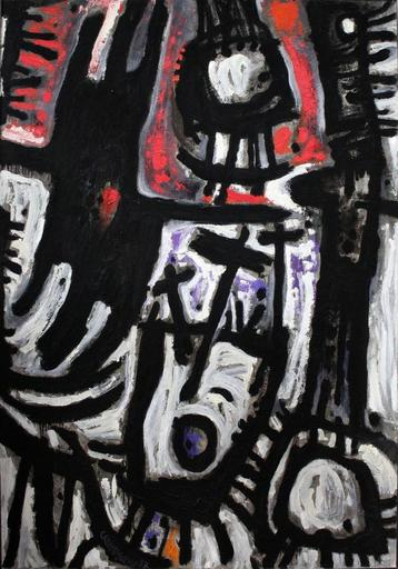 John CHRISTOFOROU - Peinture -  Femme, oiseau et bateau ivre