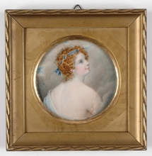 "Karl Josef Aloys AGRICOLA - Miniature - ""Portrait of a Lady"", miniature on ivory"