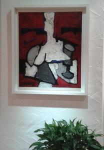 Claude VENARD - Painting - Composition Rouge au Verre à Pied
