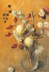 Renée Yolande HAUSER - Pintura - Petit bouquet d'hiver