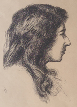 Hermann STRUCK - Print-Multiple - Profil of a Girl