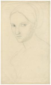 Peter RITTIG - Disegno Acquarello - Vittoria Caldoni, Büste nach links.