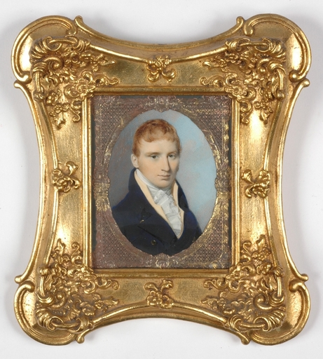 """George ENGLEHEART - Miniature - """"Portrait of a Young Gent"""", Miniature on Ivory"""