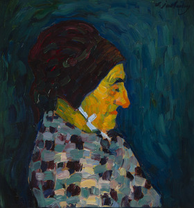 Alexej VON JAWLENSKY - Painting - Portrait de Madame Sid