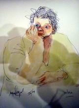 Jacques SEGAL - Dibujo Acuarela - VICTORIA IV09