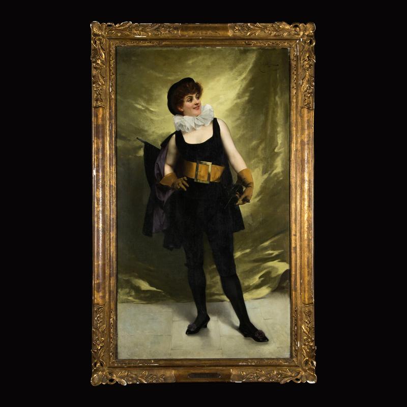 Émile Antoine BAYARD - Painting - La Comédienne