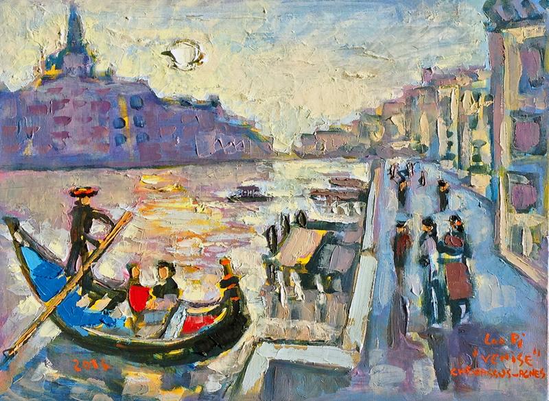 Jean-Pierre CHEVASSUS-AGNES - Peinture - Venice (Italy ) view