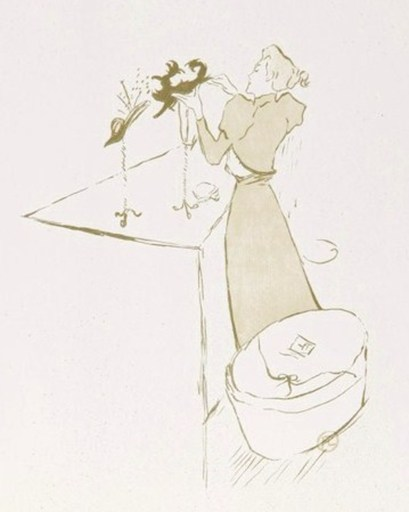 Henri DE TOULOUSE-LAUTREC - Print-Multiple - La Modiste Renée Vert - 1° Etat avant la lettre