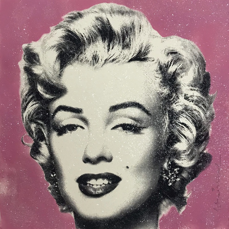 MR BRAINWASH - Peinture - Diamond Girl (Pink)