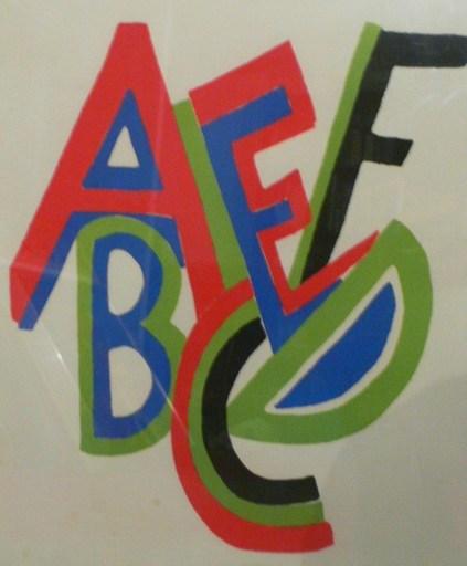 Sonia DELAUNAY-TERK - Print-Multiple - Alphabet Abdcde