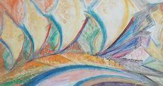 Alberto BRAGAGLIA - Pintura - Policromia Spaziale Astratta