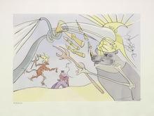 Salvador DALI - Estampe-Multiple - Der Elefant und der Affe Jupiters