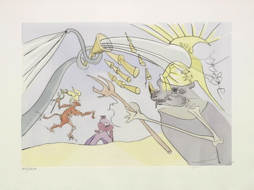 Salvador DALI - Print-Multiple - Der Elefant und der Affe Jupiters