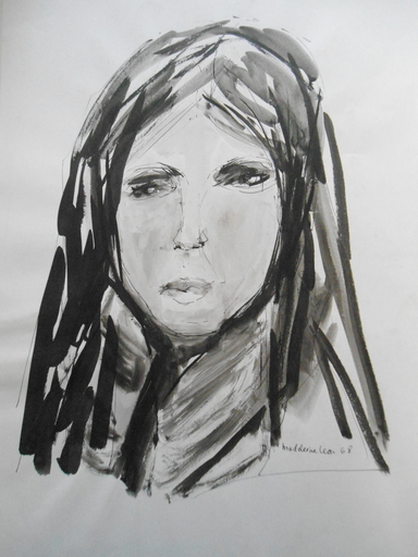 Madeleine LEON - Dibujo Acuarela - Lot de 4 dessins voir détail plus bas.