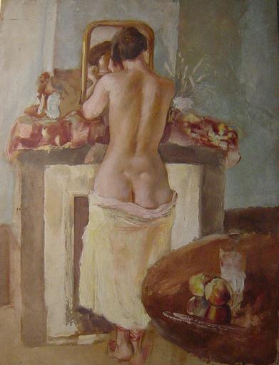 Adrien DUPAGNE - Gemälde - Nu Double-Face