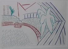 David HOCKNEY (1937) - My Pool And Terrace