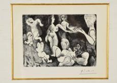 巴勃罗•毕加索 - 版画 - Marin rêveur avec deux femmes, couple, spectatrice