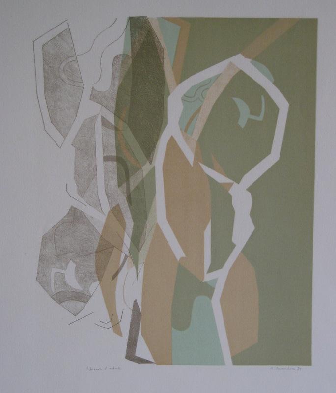 André BEAUDIN - Print-Multiple - LITHOGRAPHIE 1971 SIGNÉE CRAYON EA HANDSIGNED EA LITHOGRAPH