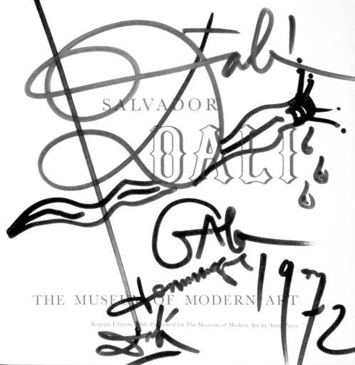 萨尔瓦多·达利 - 水彩作品 - Snail self Portrait signed by Dali & Gala