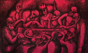 Alexander AIZENSHTAT - Painting - The King Gastro