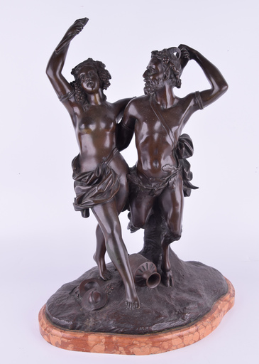 CLODION - Sculpture-Volume - CLODION (1738-1814) — Untitled (Nymph and Satyr)