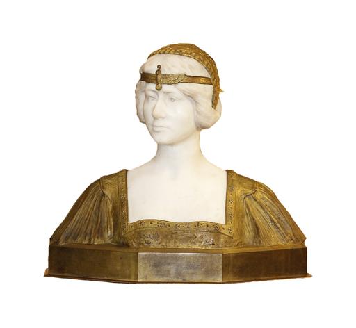 Paul Louis LOISEAU-ROUSSEAU - Skulptur Volumen - Buste de Femme « Vêtue à l'Égyptienne »