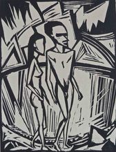 Erich HECKEL - Print-Multiple - Couple by the Sea