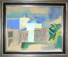 Jean DUFY - Pittura - Le casino de Nice
