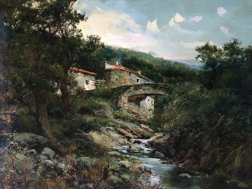 José FRANCO CORDERO - Painting - Molino Castellano