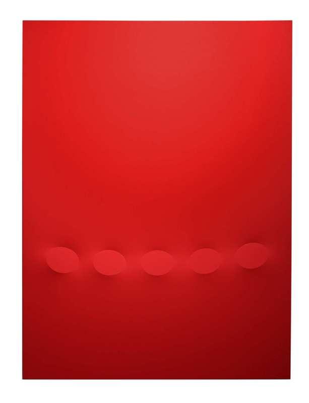 Turi SIMETI - Painting - 5 ovali rossi