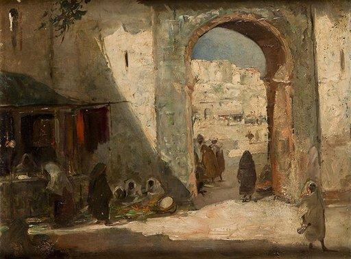 Emilio ALVAREZ DIAZ - Pintura - Arab souk