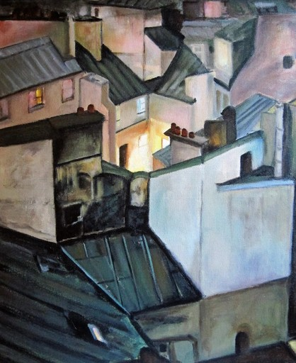 Federico JIMÉNEZ Y FERNÁNDEZ - Painting - Techos de Paris