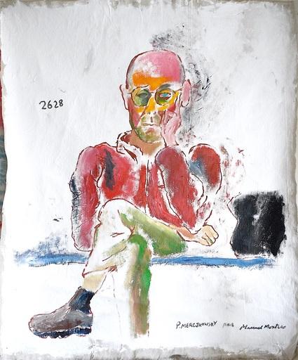Manuel MONTERO - Peinture - Portrait Pierre Merejkowski