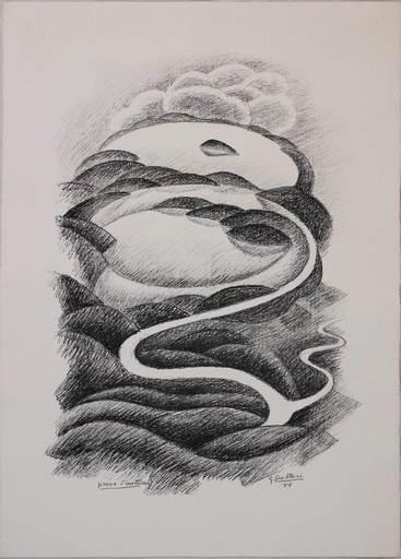 Gerardo DOTTORI - Grabado - Paesaggio totale